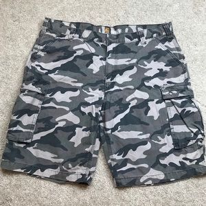 Carhartt Men's Relaxed Fit Camo Cargo Shorts 42